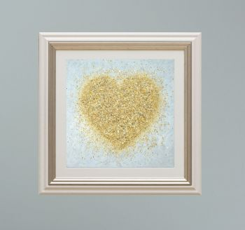 """VIENNA FRAMED PRINT - """"Heart Of Gold"""" FROM  £165"""