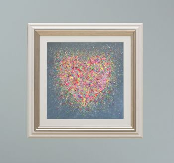 """VIENNA FRAMED PRINT - """"Home Is Where The Heart Is"""" FROM  £165"""