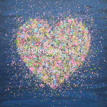 """ORIGINAL ART WORK - """"A Heart Full Of Love"""" (60x60cm)"""