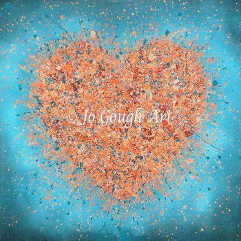 """ORIGINAL ART WORK - """"You Set My Heart On Fire"""" (60x60cm)"""
