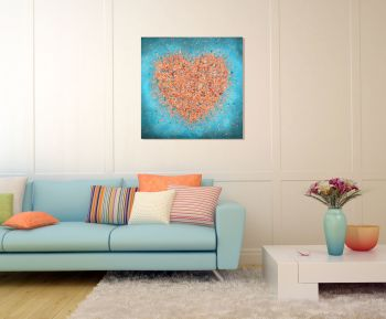 """CANVAS PRINT - """"You Set My Heart On Fire"""" From £65"""