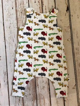 zoo animals romper