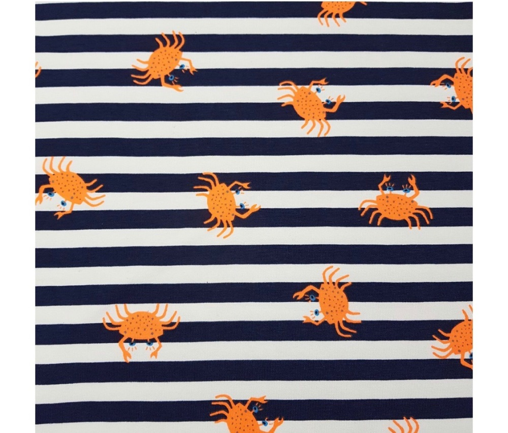 stripe and crabs shorts