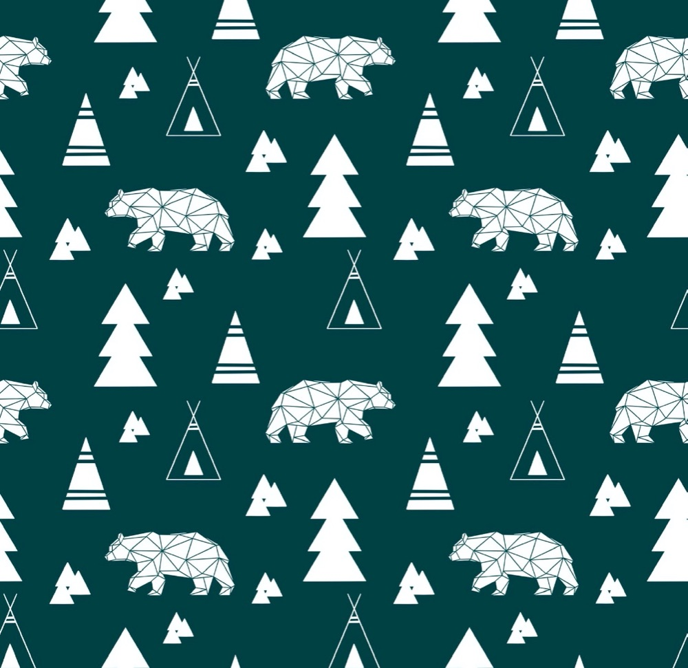 Teal winter bears