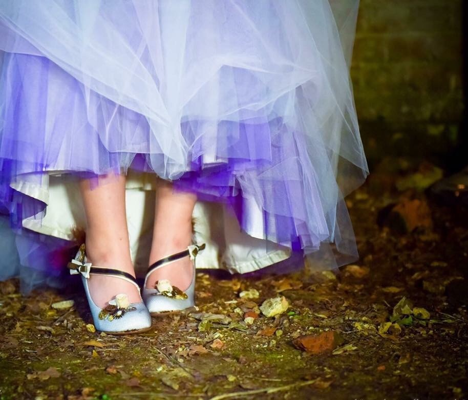 Unique wedding shoes by Lace and Love. Mary jane shoes