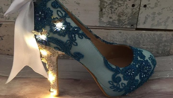 Light up shoes by Lace and Love. Fireflies light up on the heels by Lace and Love