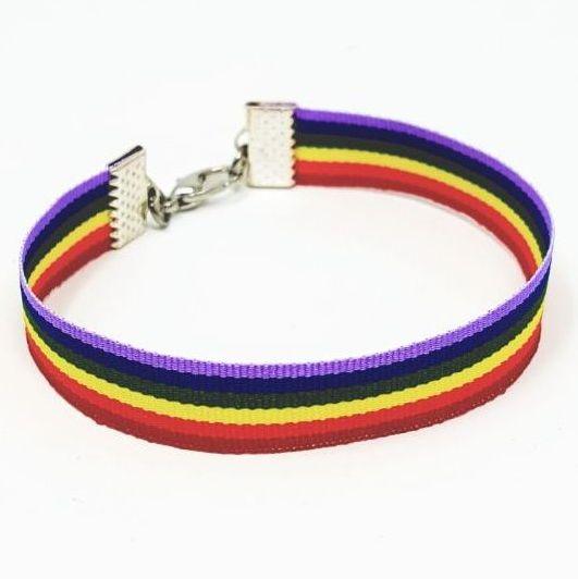 LGBT pride bracelet.