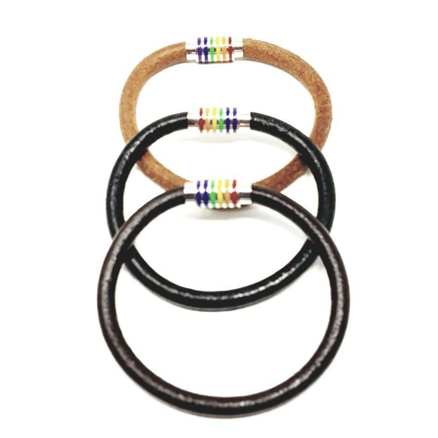 LGBT leather bracelet.