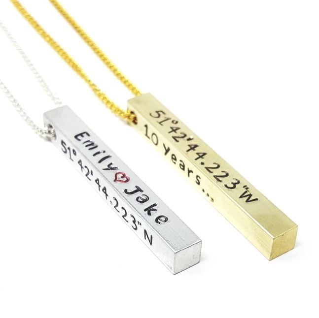 PERSONALISED COORDINATES NECKLACE