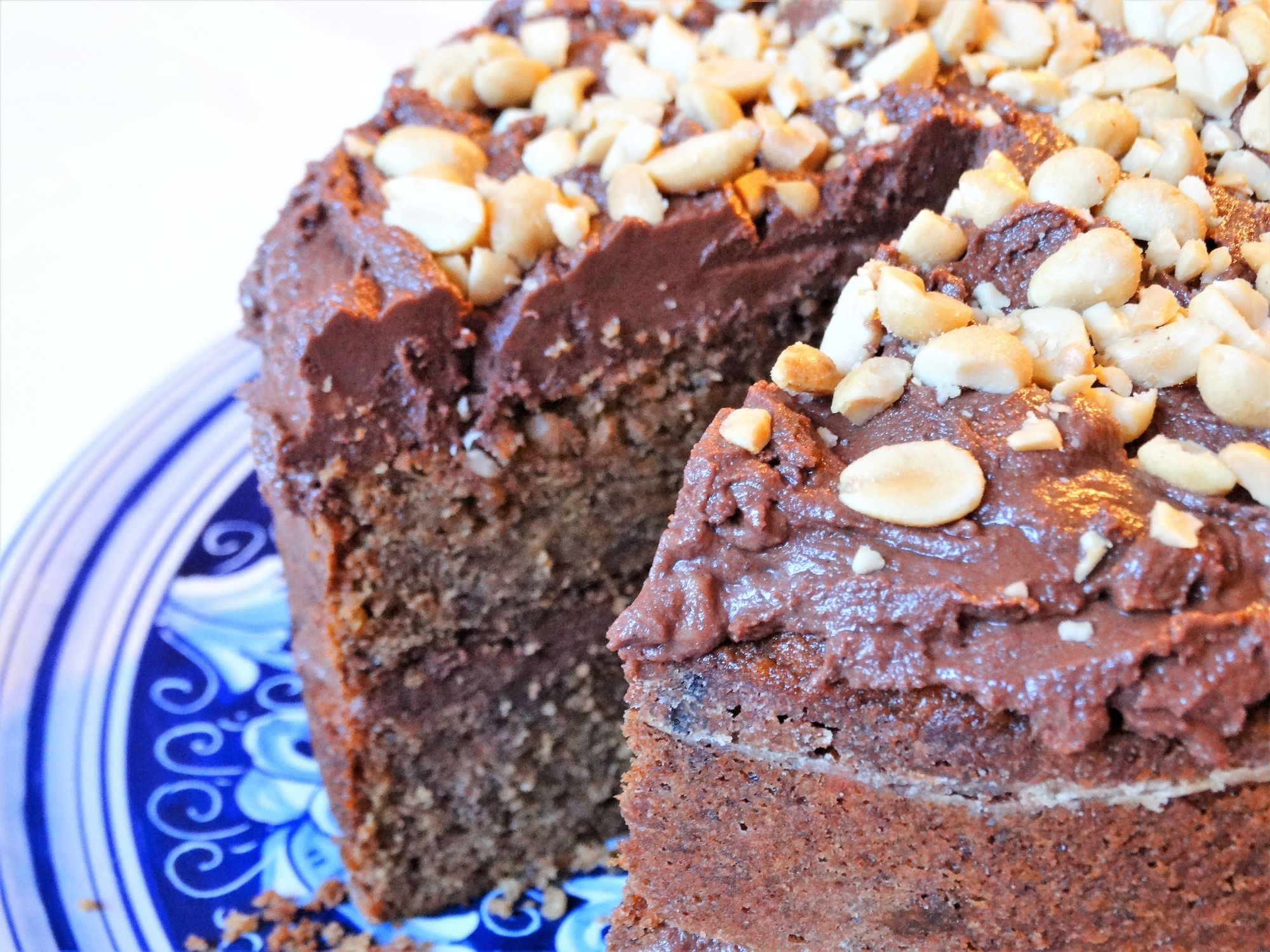 Banana Chocolate and Peanut Butter Cake