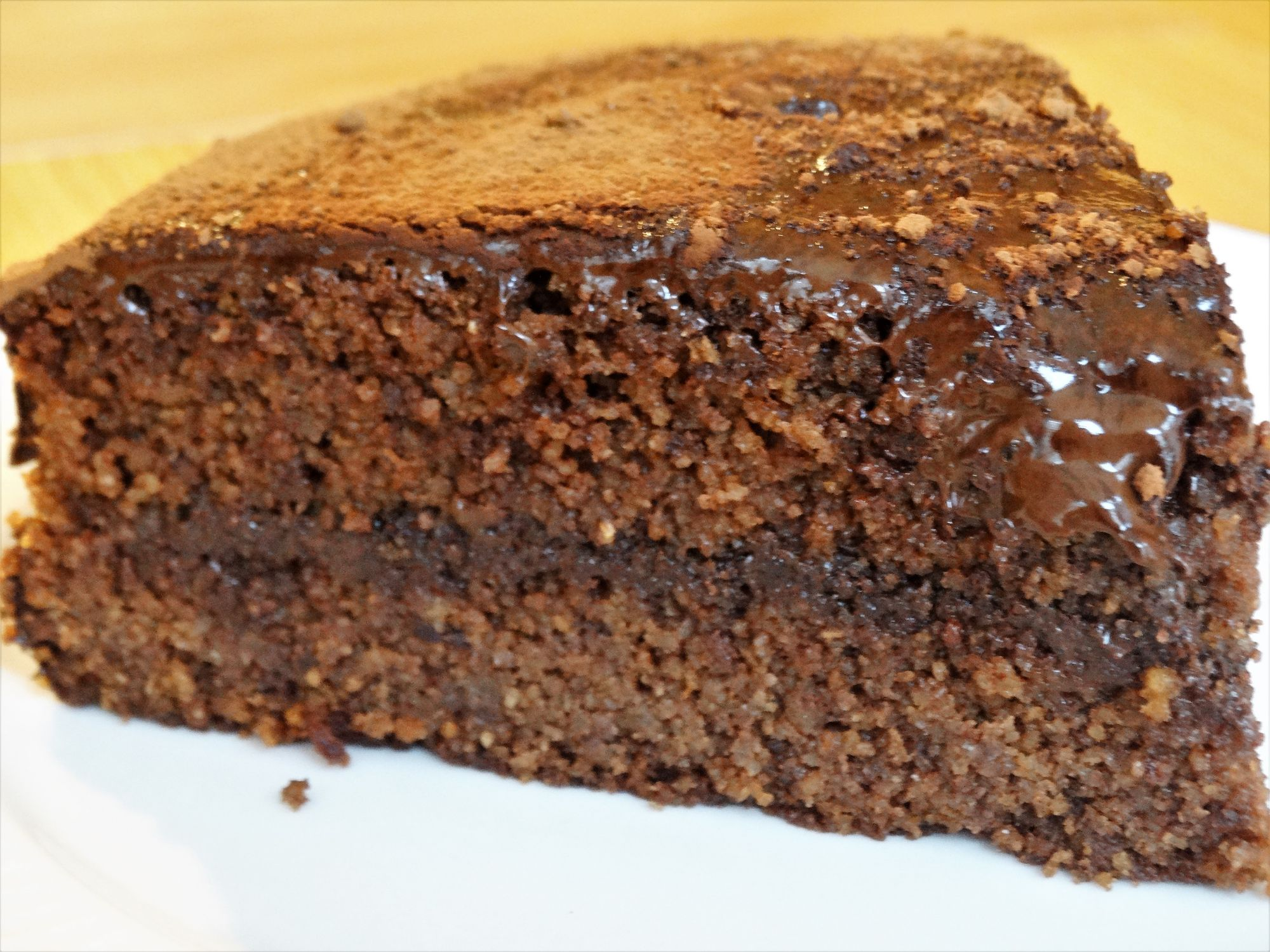 Chocolate Hazelnut and Polenta Cake