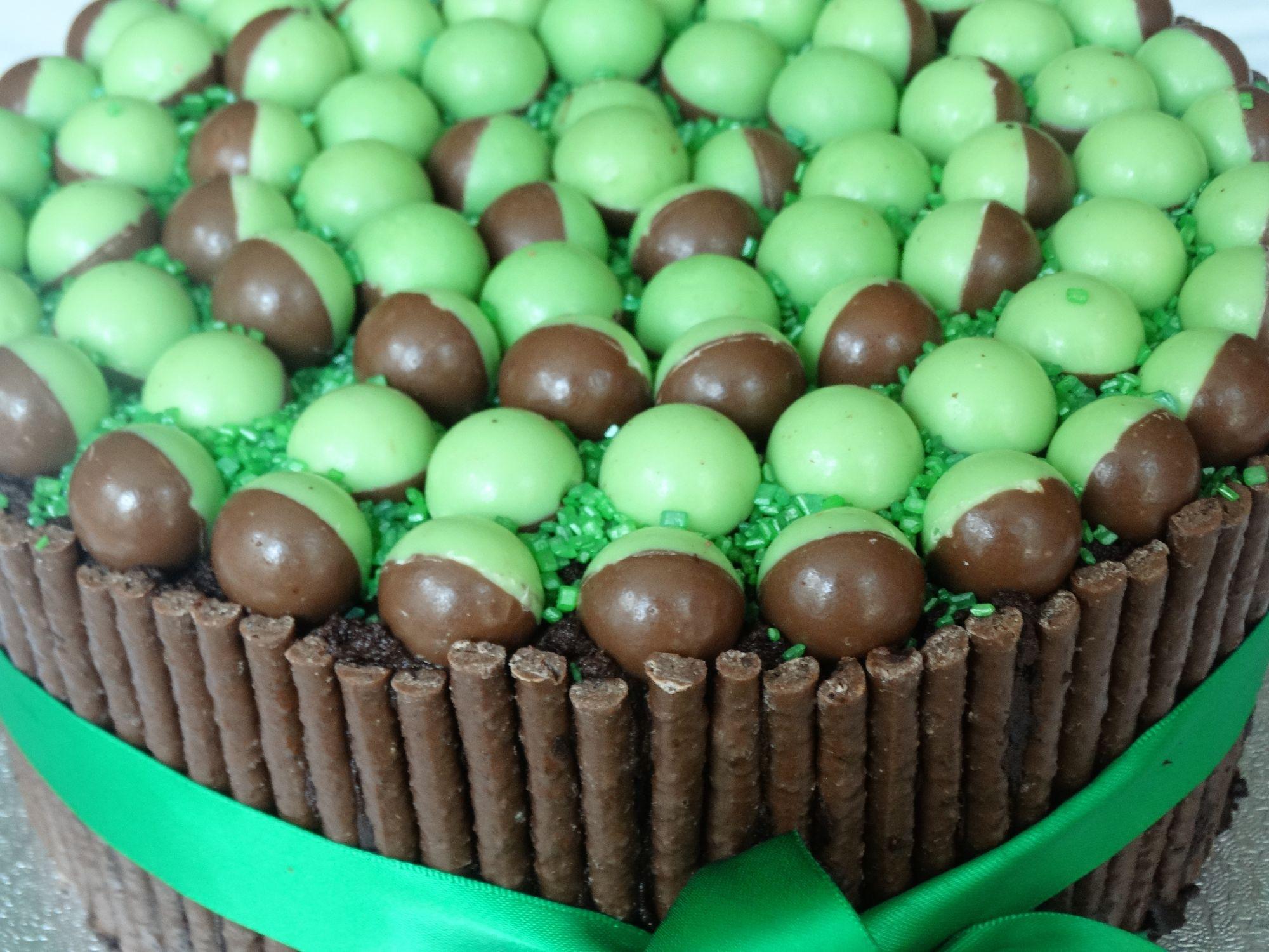 Mint Aero Bubbles Layer Cake