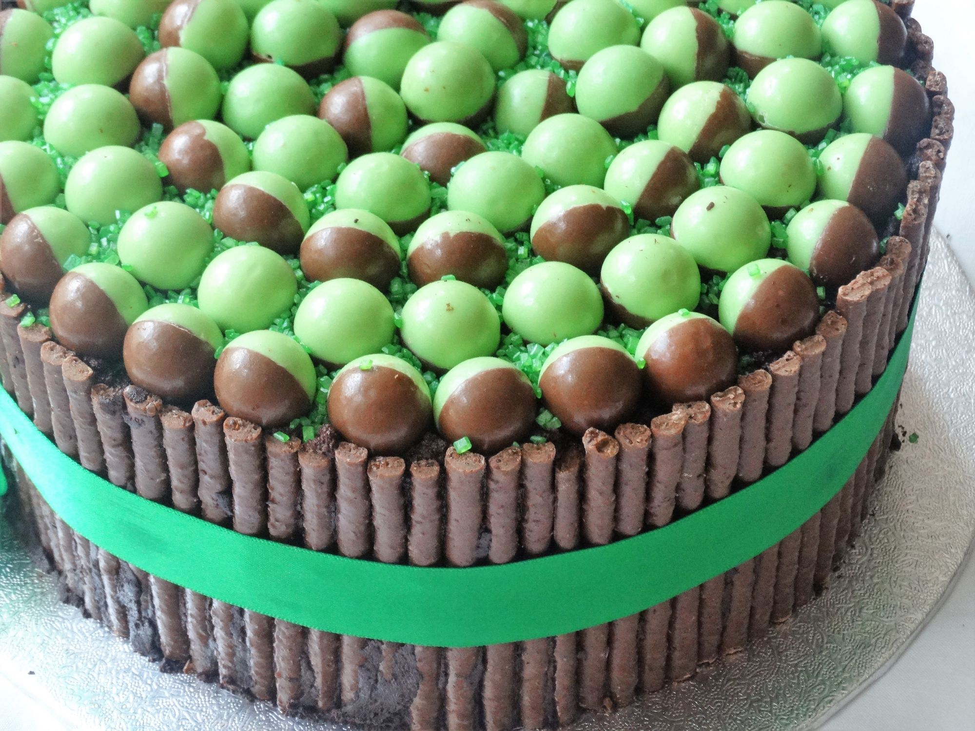Mint Aero Bubbles Layer Cake