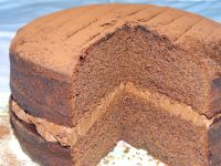 Medium Chocolate Sponge Cake With Chocolate Buttercream