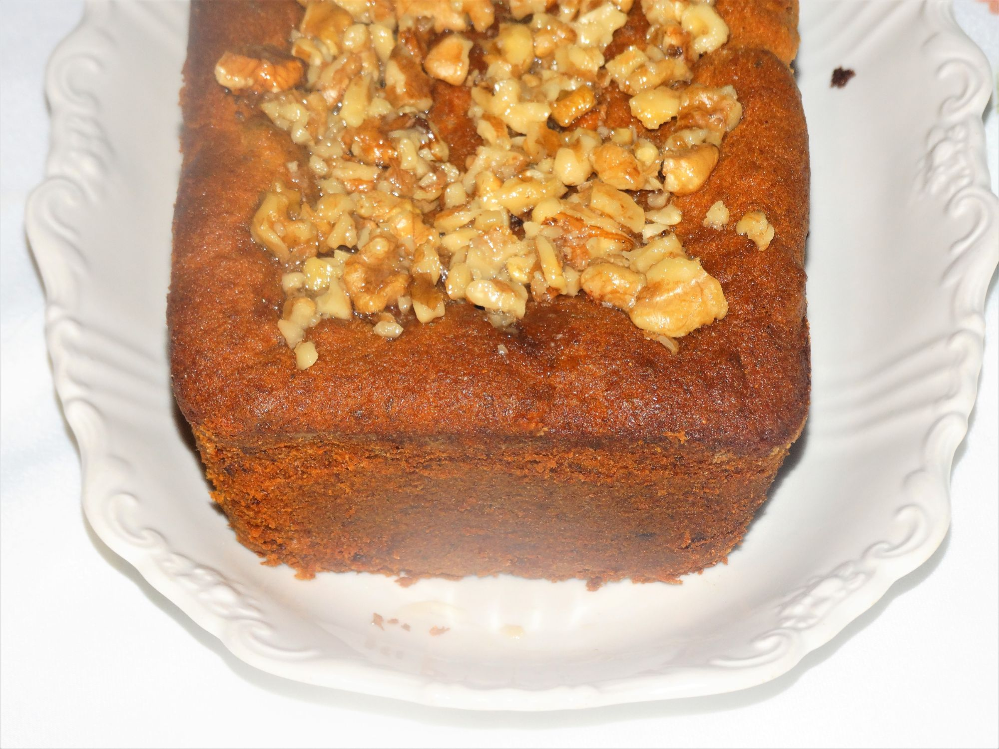Banana Honey Date and Walnut Loaf Cake