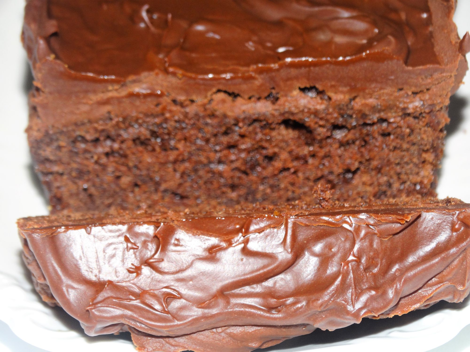 Fudgey Chocolate Loaf Cake
