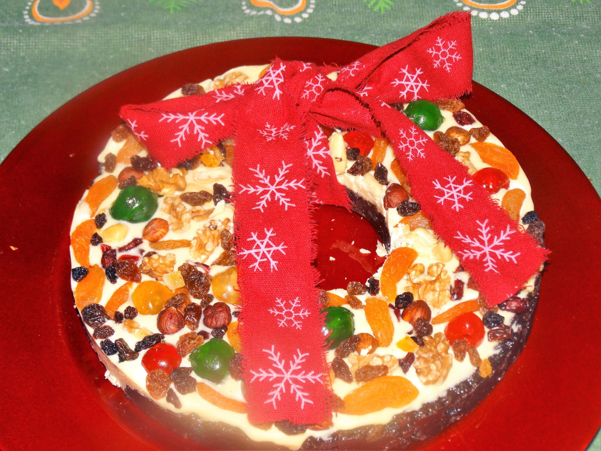 Chocolate Christmas Tiffin Wreath