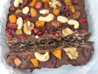 Rich Fruit And Nut Chocolate Tiffin Slab