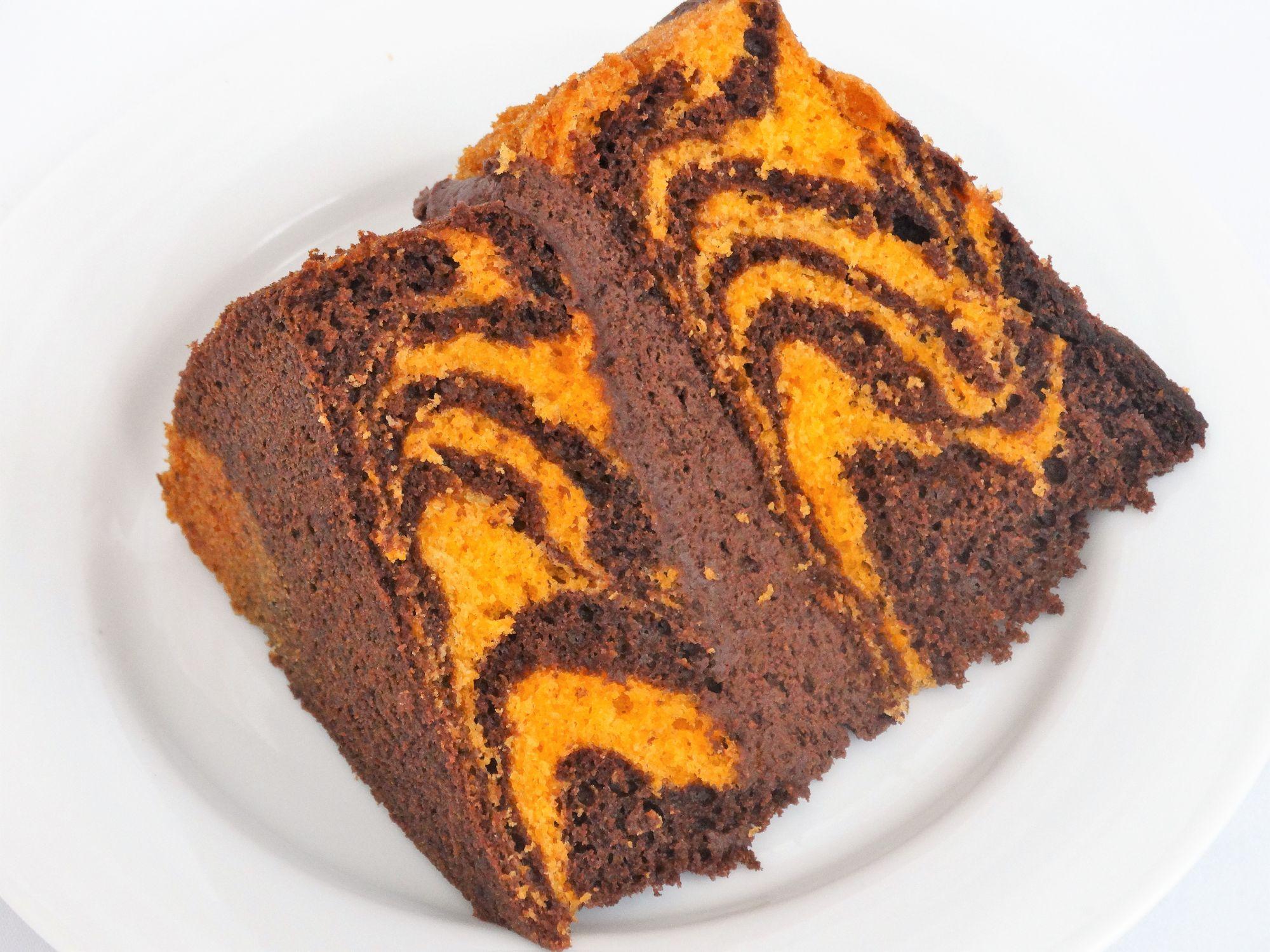 Chocolate Orange Tiger Cake