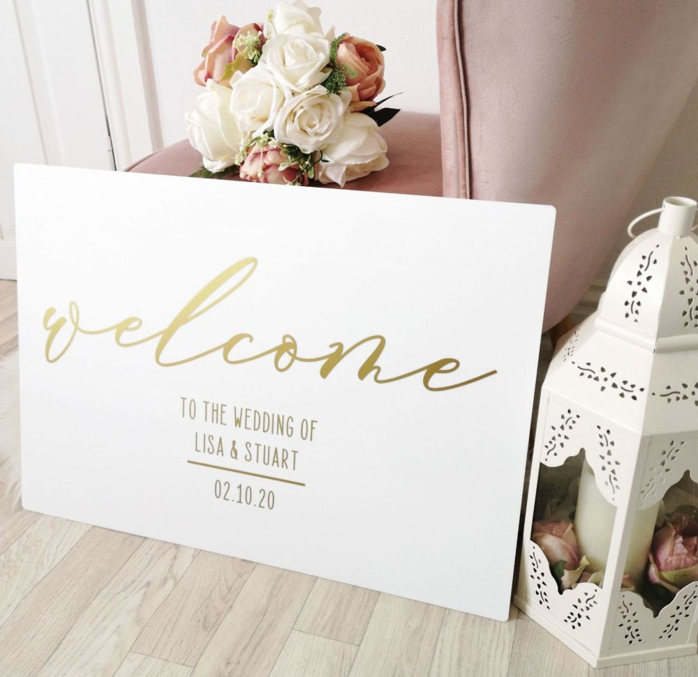 A2 Acrylic Welcome Wedding Sign
