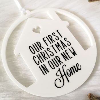 'Our first Christmas in our new home' Hanging Decoration
