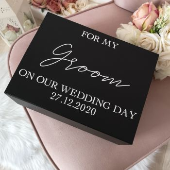 Medium To My Groom On Our Wedding Day Gift Box