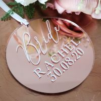 Wedding Party Hanger Disc Tag