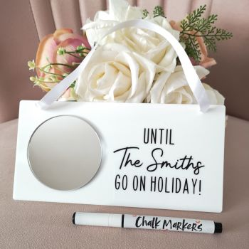 Personalised Holiday Countdown Sign