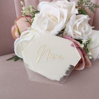 Personalised Hexagon Acrylic Place Names