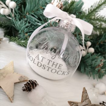 'Christmas at the...' Bauble