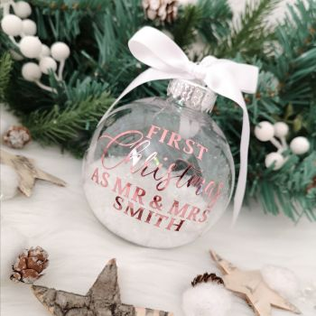 'First Christmas as...' Bauble