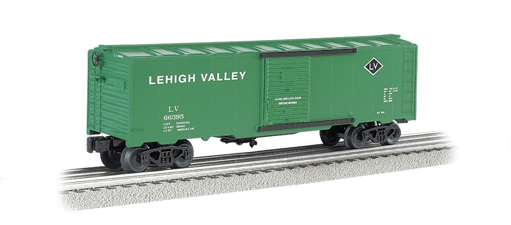 Lehigh Valley- Green - 40' Box Car