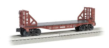 Norfolk Southern - 40' Flat Car with Bulkhead Ends