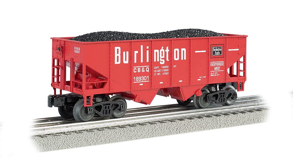 Burlington - Red - 55-Ton 2-Bay USRA Outside Braced Hopper