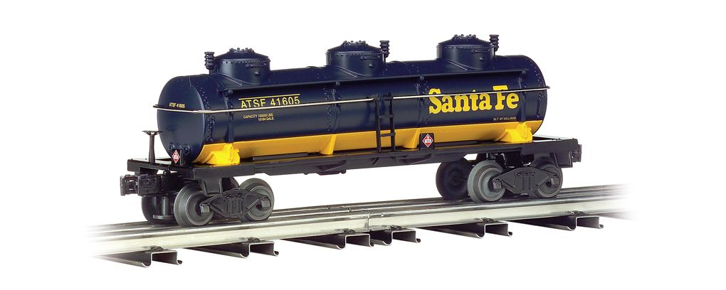 Santa Fe - Three-Dome Tank Car