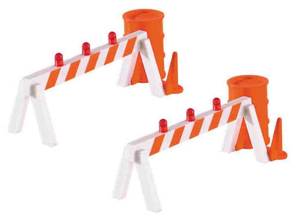 Blinking Hazard Barricades (2/Pk)
