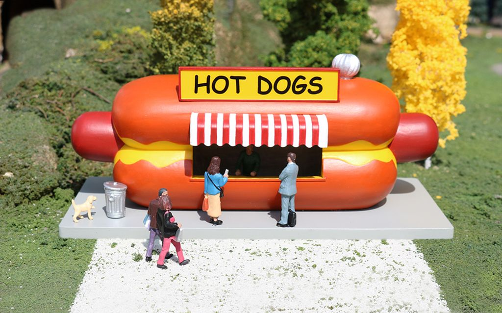 Hot Dog Stand - O Scale