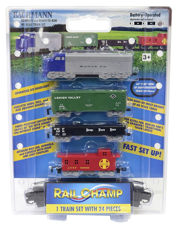 Rail Champ Battery-Operated Diesel Set (HO Scale )