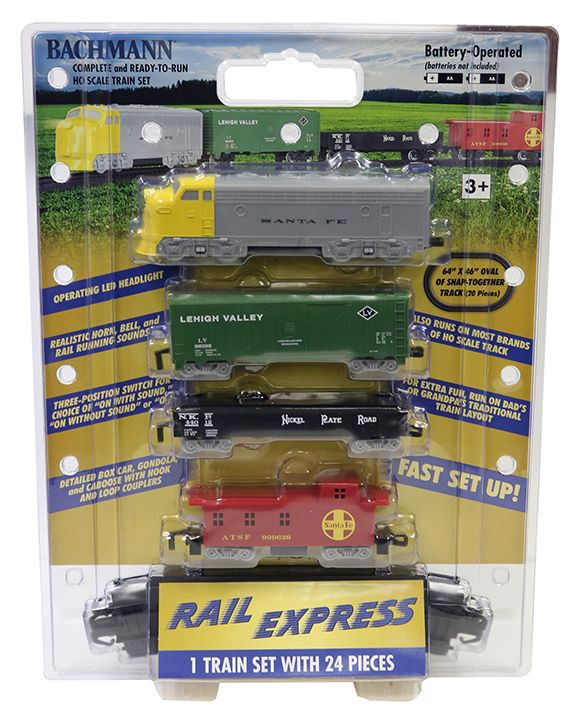 Rail Express Battery-Operated Diesel Set (HO Scale)