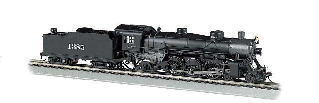 Santa Fe #1385 - 4-6-2 Light Pacific - DCC Sound Value (HO Scale)