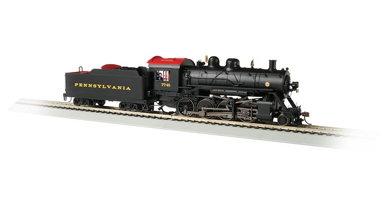 Pennsylvania #7748 Baldwin 2-8-0 Consolidation - DCC Sound Value (HO Scale)
