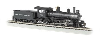 New York Central #1238 - Baldwin 4-6-0 (HO Scale) DCC Ready