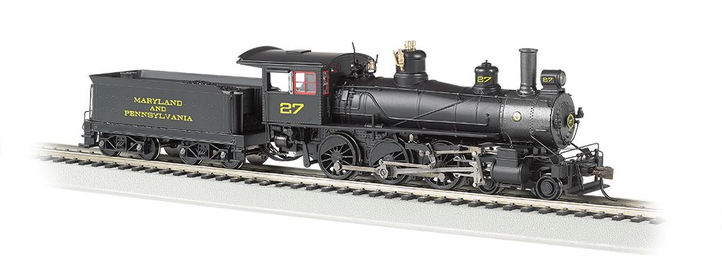 Maryland and Pennsylvania #27 - Baldwin 4-6-0 (HO Scale) DCC Ready