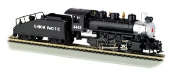 U.P. #4442(Silver & Black)-USRA 0-6-0 W/Smoke&Slope Tender(HO)
