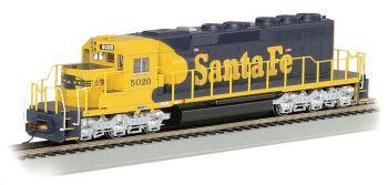 Santa Fe #5020 (yellow & blue War Bonnet) - SD40-2 - DCC (HO)