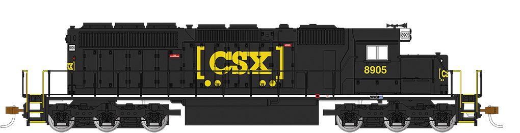 CSX® #8905 - Black (HTM®) - SD40-2 - DCC (HO)