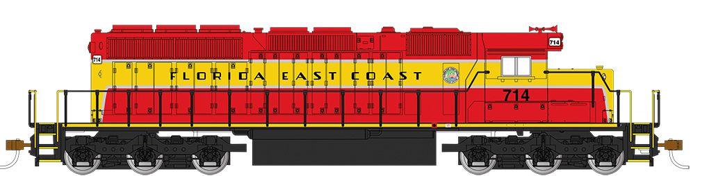 Florida East Coast #714 - SD40-2 - DCC (HO)