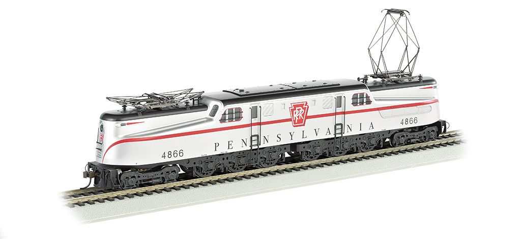 PRR Silver w/ Red Stripe Congressional #4866-DCC Ready GG1 (HO Scale)