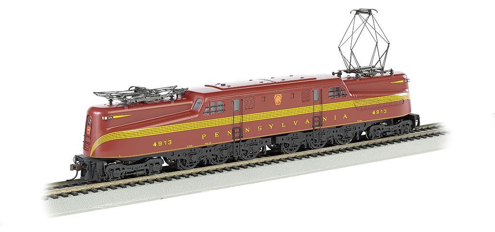 PRR Tuscan Red 5 Stripe #4913-DCC Sound Value GG1 (HO Scale)