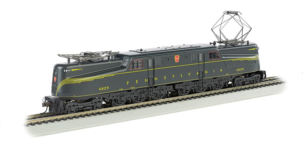 PRR #4829 Green Feathered Stripe-DCC Sound Value GG1 (HO Scale)